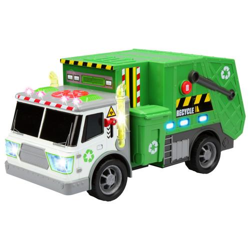 City Worker Garbage Truck