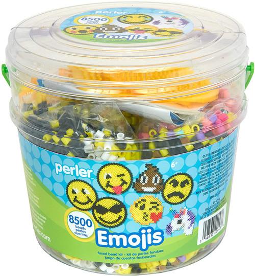 Perler Emoji Bucket