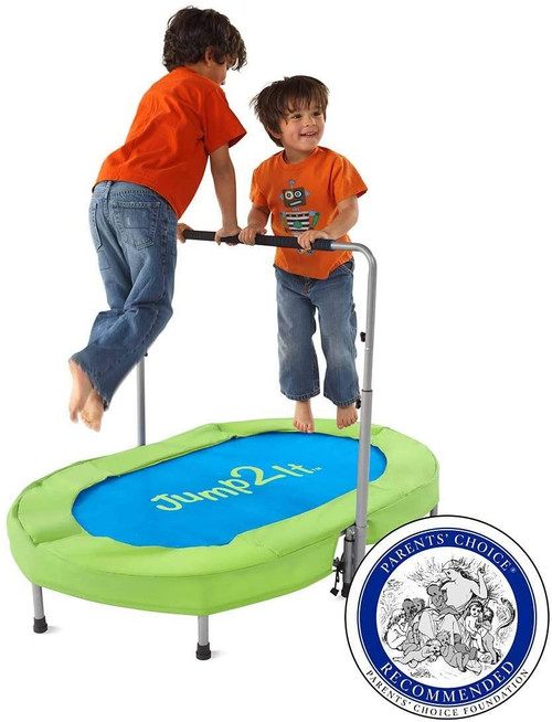 Trampoline for 2 with Adjustable Handle