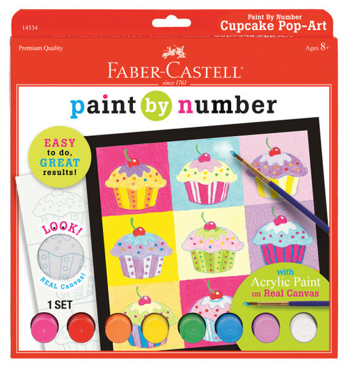 Paint by Number Cupcake Art