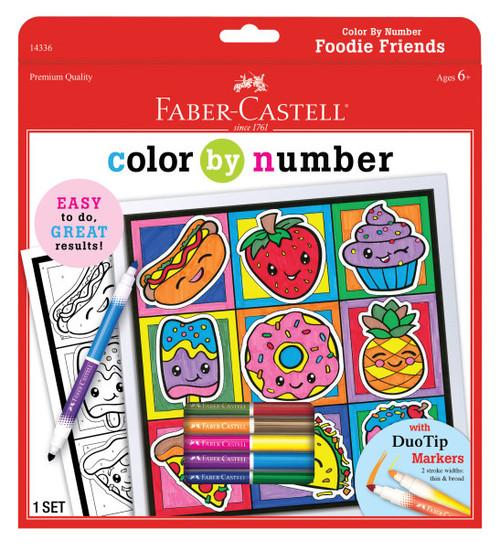 Color by Number Foodie Friends