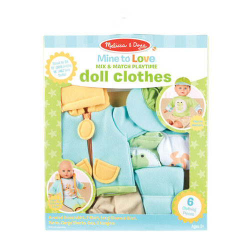 Mine to Love Mix & Match Playtime Doll Clothing