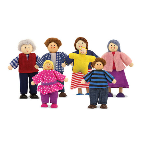 Melissa and Doug Wooden Doll Family
