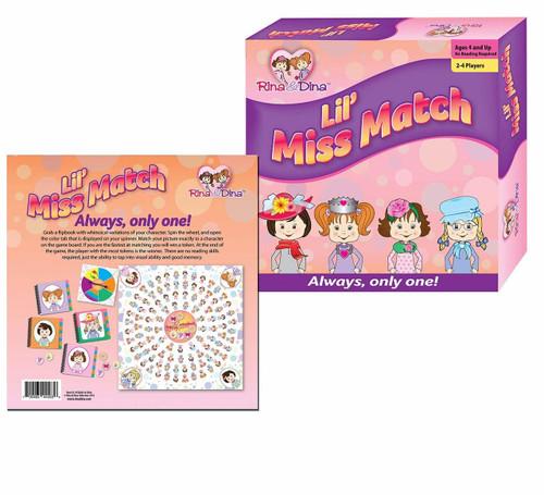 Rina & Dina Lil Miss Match Board Game