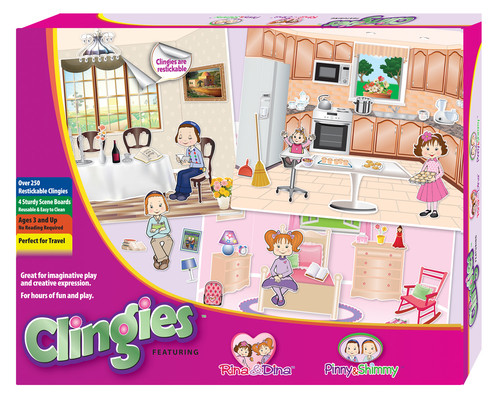Clingies Reusable Stickers and Boards Dress Up