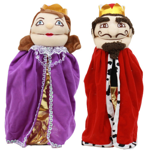 Pappalach set of 2 Hand puppets KING & QUEEN