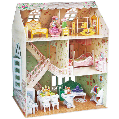 3D Dollhouse with Furniture