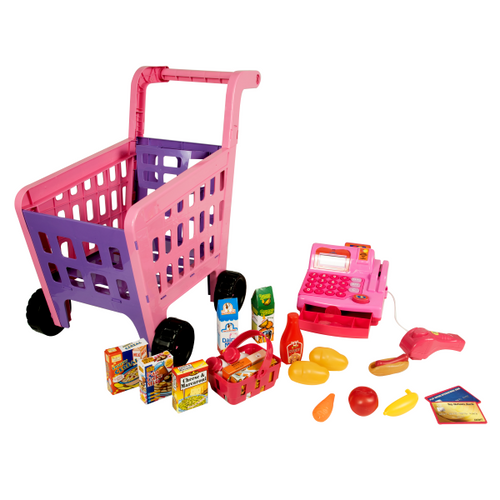 Shopping Cart Playset with Cash Register