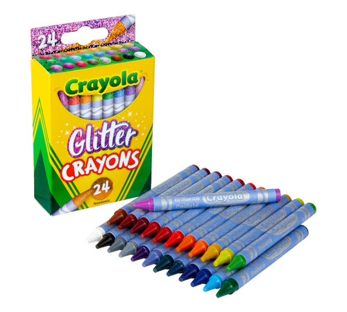 Crayola Glitter Crayons, 24 Count