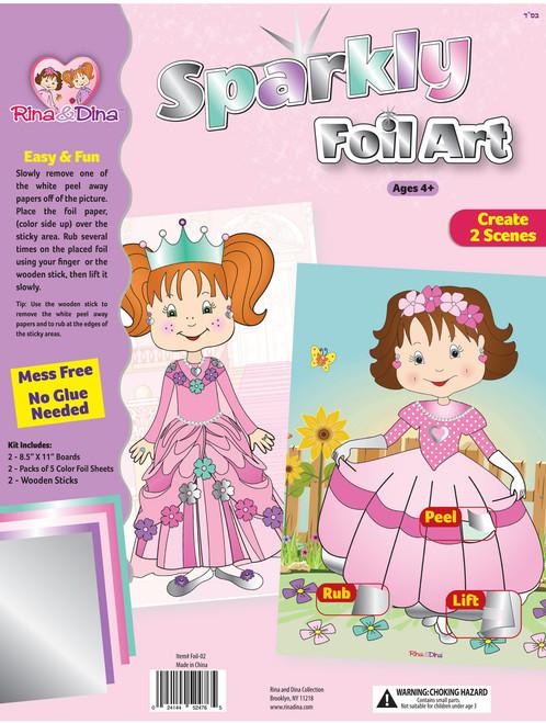 Rina and Dina Foil Art Kit