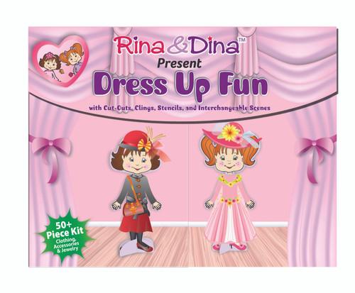 Rina and Dina Dress Up Fun Paper Dolls with Clingies