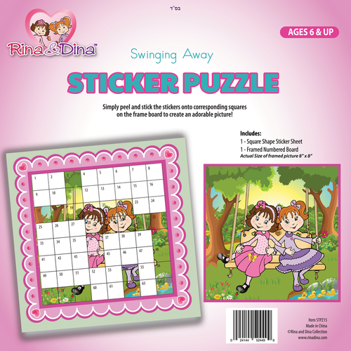 Rina and Dina Sticker Puzzle / On a Swing