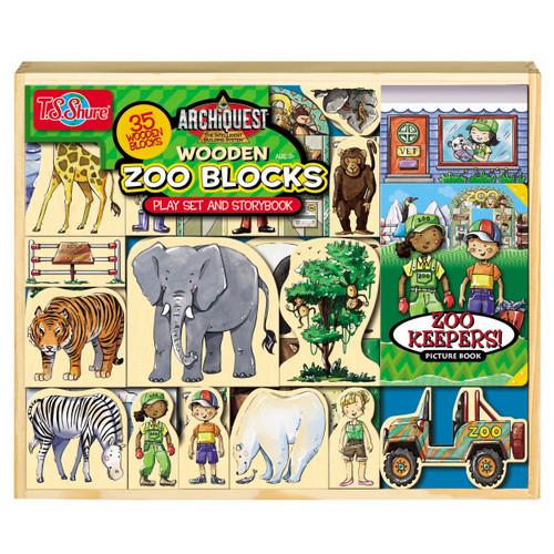 Zoo Wooden Blocks, 35 Pieces