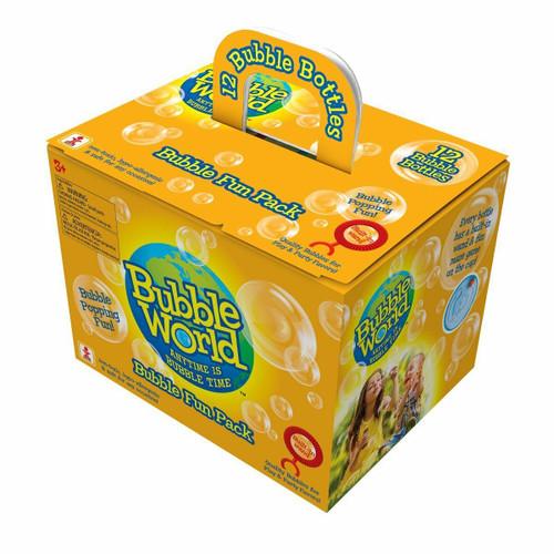 Bubble World Fun Bubble Bottles (12 Pack)