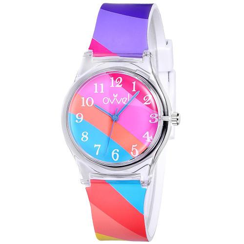 Bright Stripe Plastic Band Watch