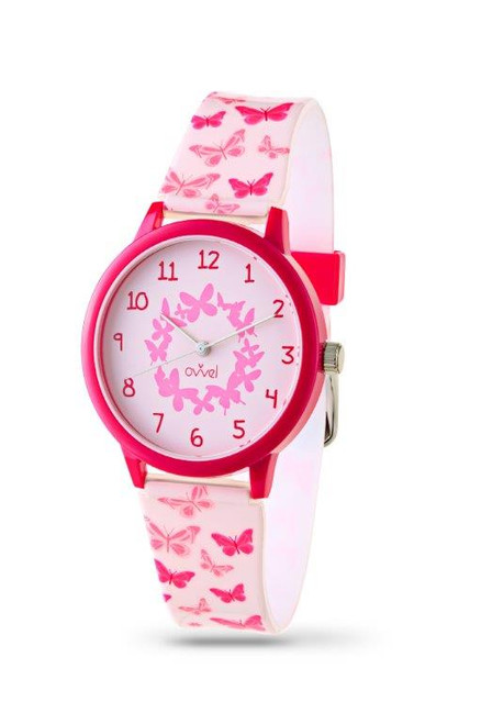 Butterfly Plastic Band Watch