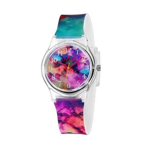 Color Burst Plastic Band Watch