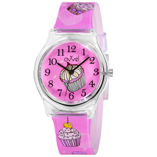 Cupcakes Plastic Band Watch