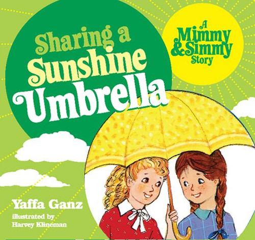 Mimmy & Simmy Sharing A Sunshine Umbrella