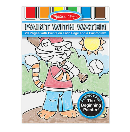 Paint With Water Kids' Art Pad With Paintbrush