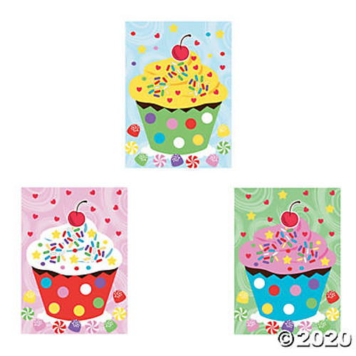 Paper Mini Cupcake Sticker Scenes