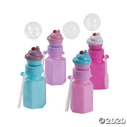 Cupcake Bubble Bottles Set of 12