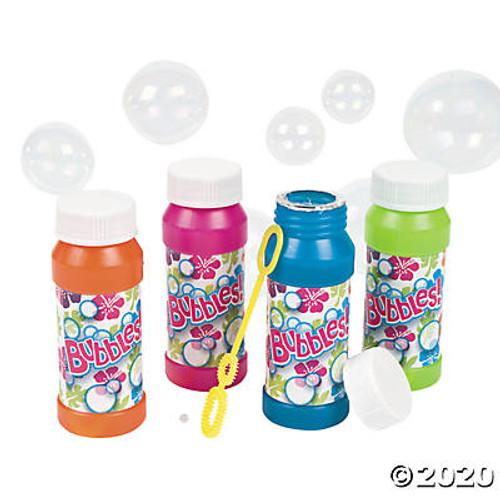 Plastic Tropical Bubble Bottles Set of 12