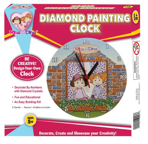 Rina and Dina Friends Diamond Painting Clock