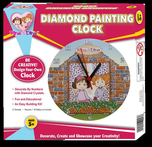 Rina and Dina Diamond Painting Clock
