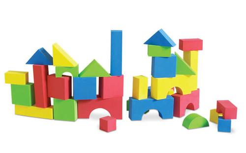 Soft Foam Colorful Blocks - 80pcs