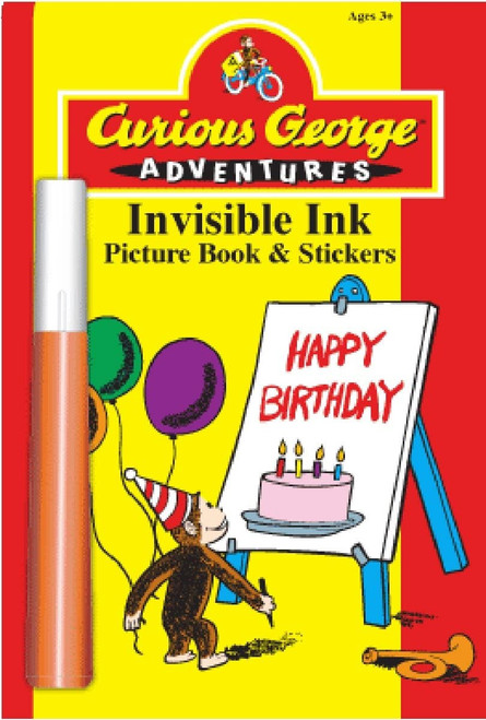 Curious George Happy Birthday Invisible Ink Picture Book & Stickers