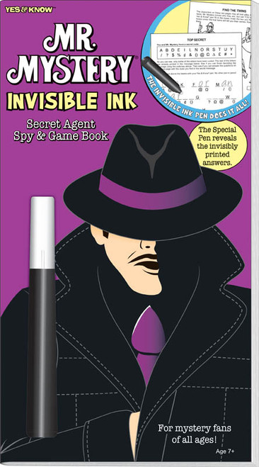 Yes & Know Mr. Mystery Secret Agent Spy-Invisble Ink Game Book