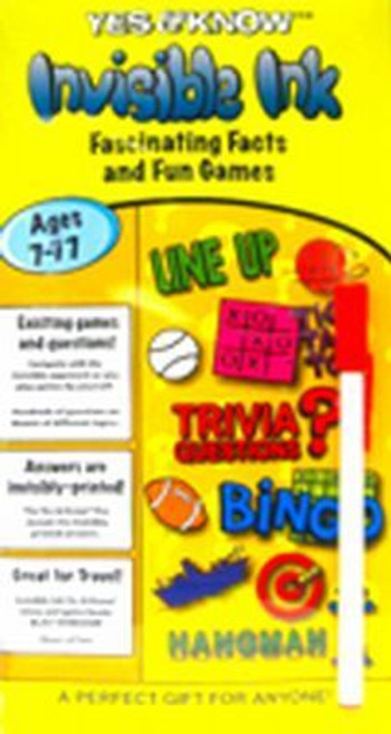 Yes & Know Invisible Ink Trivia & Game Book Ages 7-77