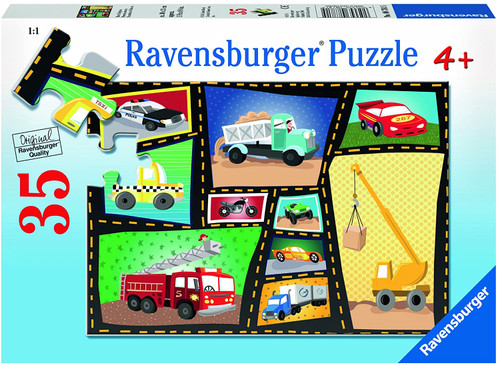Ravensburger Tires & Engines 35 Piece Jigsaw Puzzle for Kids