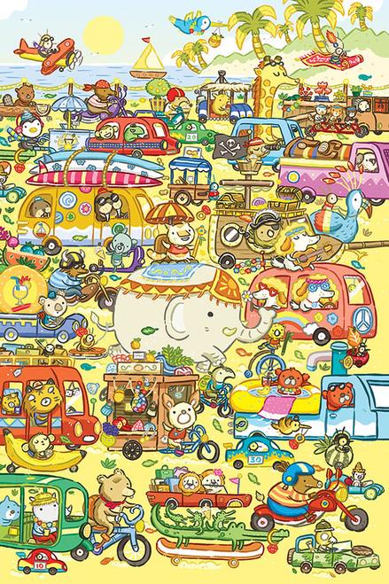 Traffic Jam 60 Piece Kids Puzzle