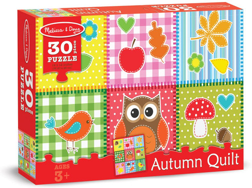 Melissa & Doug Autumn Quilt Fall Favorites Jigsaw Puzzle 30 Pieces