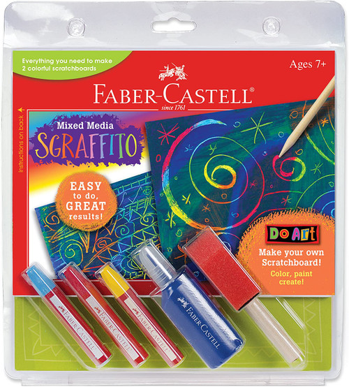 Sgraffito Scratch Art Kit for Kids
