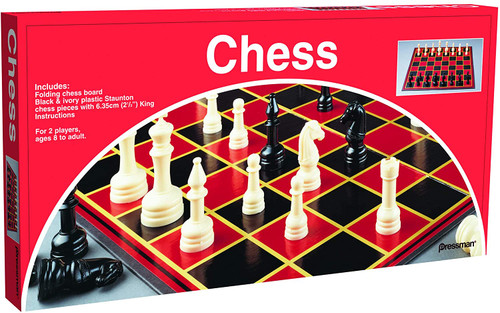 Chess with Folding Board and Full Size Chess Pieces