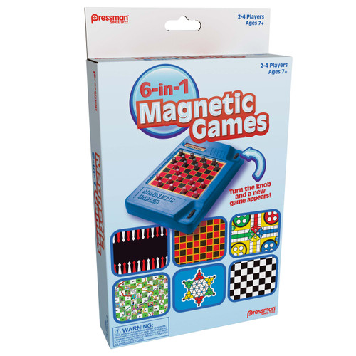 6-in-1 Travel Magnetic Games
