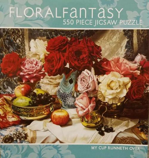 Floral Fantasy 550 Piece Puzzle