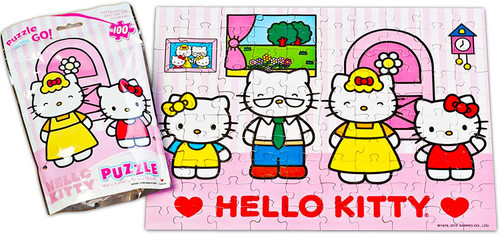 Hello Kitty Puzzle on The Go! 100 Pieces