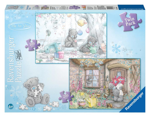 Ravensburger Cottage Visit & Garden Party (2 Puzzles) - 100, 200pc Jigsaw Puzzle