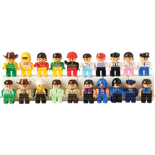 Figures for Preschool Sized Building Bricks(Duplo Compatible)