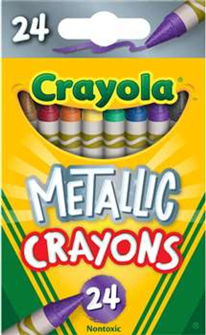 Crayola Metallic Crayons 24 Colors