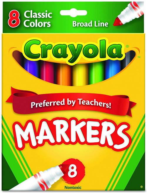 Crayola Broad Line Markers 8 ct