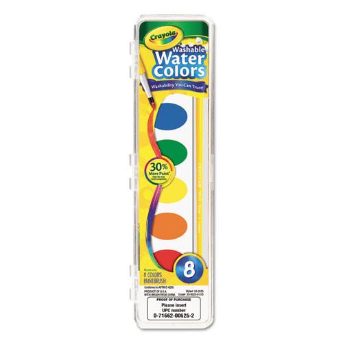 Crayola Washable Watercolor Paints 8 asst Colors