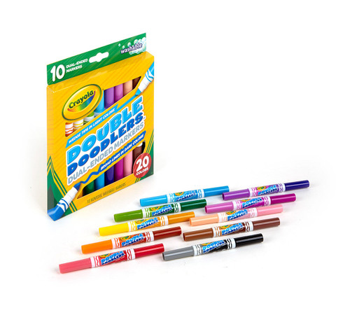 Crayola 10ct Washable Double Doodlers Markers