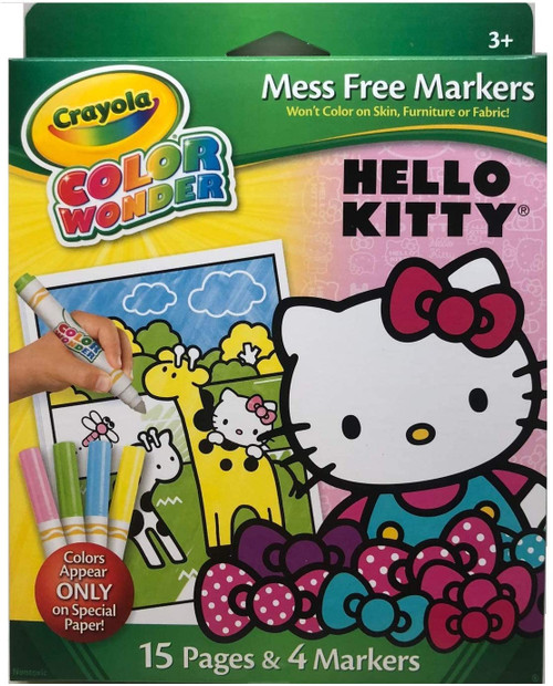 Crayola Color Wonder Hello Kitty 15 Page Coloring Pad and 4 Markers