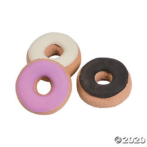 3D Donut Erasers  24 Pieces