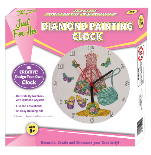 Rina and Dina Just For Her Diamond Painting Clock